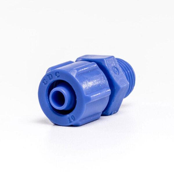 """Adapter lige ¼""""x8/10mm. m/omløber."""