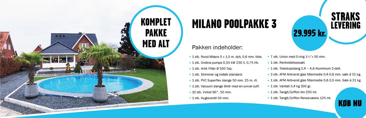 milano poolpakke 3 - straks levering solbadet