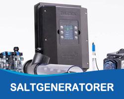 Saltvandsgeneratorer fra solbadet - slip for klor i poolen